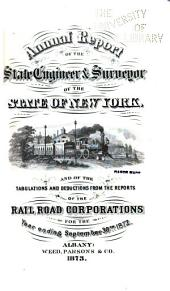Annual Report ... on the Railroads of the State of New York ...