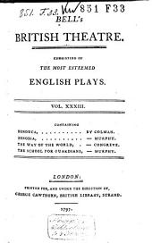 Bell's British Theatre: Volume 33