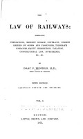 The Law of Railways PDF
