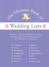 The Ulitmate Book of Lists from WedSpace.com