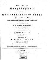 Allgemeine Encyclopädie der Wissenschaften und Künste in alphabetischer Folge: Zweite Section: H-N, Band 18