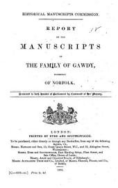 Report on the Manuscripts of the Family of Gawdy, Formerly of Norfolk: Volume 10, Part 2
