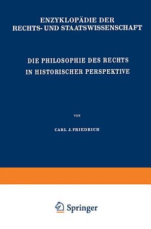 Die Philosophie des Rechts in Historischer Perspektive PDF