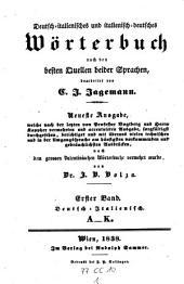 Dizionaro tedesco-italiano e italiano-tedesco ... Ed. nuovissima da G. B. Bolza: Volume 1