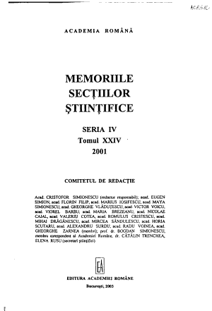 Memoirs of the Scientific Sections of the Academy of the Socialist Republic of Romania PDF