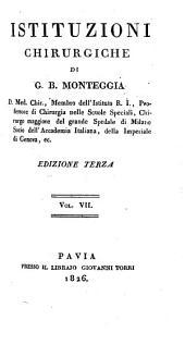 Istituzioni chirurgiche: Volume 7