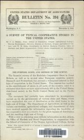 A survey of typical cooperative stores in the United States