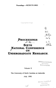 Proceedings of the     National Conference on Undergraduate Research PDF