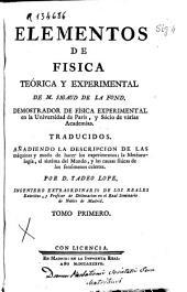 Elementos de fisica teórica y experimental