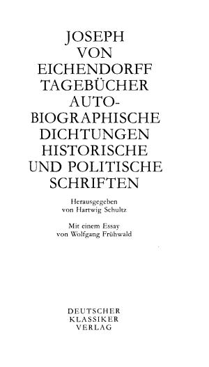 Werke in sechs B  nden  Tageb  cher  Autobiographische Dichtungen  Historische und politische Schriften PDF