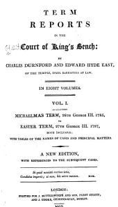 Term reports in the Court of King's Bench