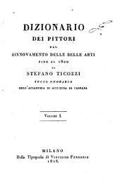 Dizionario dei pittori dal rinnovamento delle belle arti fino al 1800: Volume 1