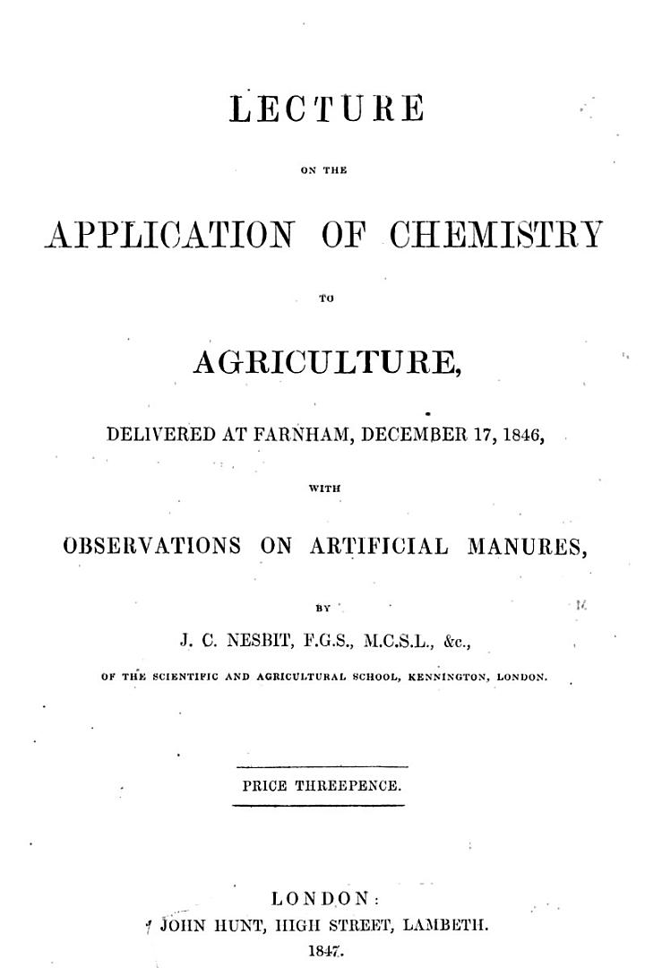 Seed and Nursery Catalogues and Pamphlets of Agricultural Interest: Rural works, 1847-1865