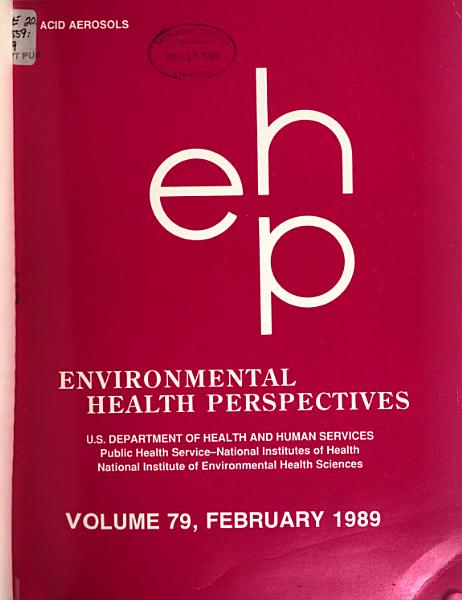 Download Environmental Health Perspectives Book