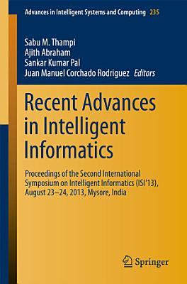 Recent Advances in Intelligent Informatics