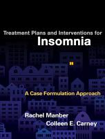 Treatment Plans and Interventions for Insomnia PDF