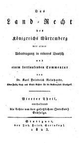 Enthaltend die Lehre von der gesetzlichen (Interstat-) Erbfolge: Volume 4