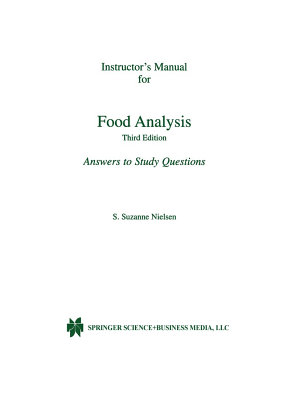 Instructor's Manual for Food Analysis