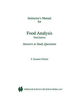 Instructor   s Manual for Food Analysis PDF