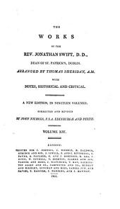 The Works of the Rev. Jonathan Swift, D.D., Dean of St. Patrick's, Dublin: Volume 14