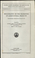 Bibliography on the Marketing of Agricultural Products PDF