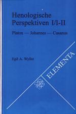 Henologische Perspektiven I/I-II