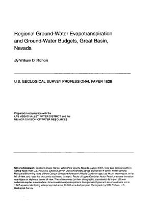 Regional Ground water Evapotranspiration and Ground  Water Budgets  Great Basin  Nevada PDF