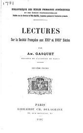 Lectures sur la société française aux XVIIe et XVIIIe siècles