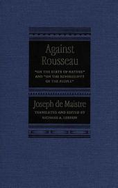 Against Rousseau: On the State of Nature and On the Sovereignty of the People