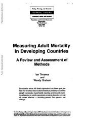 Measuring Adult Mortality in Developing Countries: A Review and Assessment of Methods