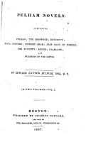 Pelham Novels  Containing Pelham PDF