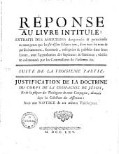 Justification De La Doctrine Du Corps De La Coompagnie de Jésus