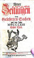 Neue Zeitungen von gelehrten Sachen      hrsg  von Johann Gottlieb Krause   PDF