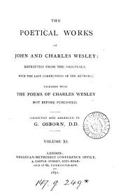 The poetical works of John and Charles Wesley, collected and arranged by G. Osborn: Volume 11