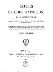 Cours de Code Napoléon: Volume1