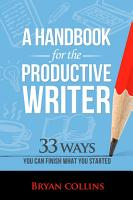 A Handbook for the Productive Writer PDF