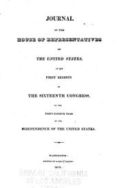 Journal of the House of Representatives of the United States: Volume 16, Issue 1