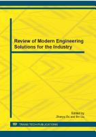 Review of Modern Engineering Solutions for the Industry PDF