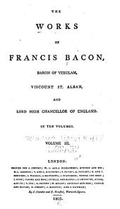 The Works of Francis Bacon: Works political