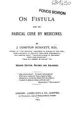 On Fistula and Its Radical Cure by Medicines