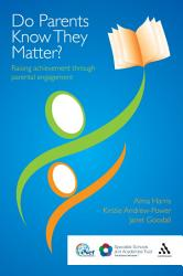 Do Parents Know They Matter  Book PDF