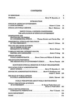 Ethics in American Public Service PDF