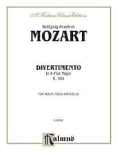 Divertimento in E-Flat Major, K. 563: String Trio - Violin, Viola and Cello