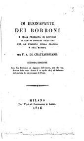 Di Buonaparte dei Borboni e della necessità di riunirsi ai nostri principi legittimi per la felicità della Francia e dell'Europa per F.A. de Chateaubriand