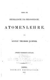 Ueber die physikalische und philosophische Atomenlehre