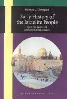 Early History of the Israelite People PDF