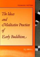 The Ideas and Meditative Practices of Early Buddhism PDF