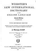 Webster's New International Dictionary of the English Language: U-Zyz, History