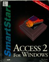 Access 2 For Windows Smartstart