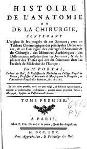 Histoire de l'anatomie et de la chirurgie ...